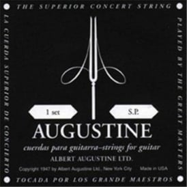 Augustine Classic Black Classical Guitar Strings - Regular Trebles / Low Tension Basses