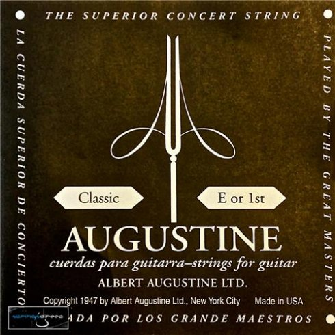 Augustine Classic Black Label Series Clear Nylon Normal Tension Classical Guitar Single String .028 E-1