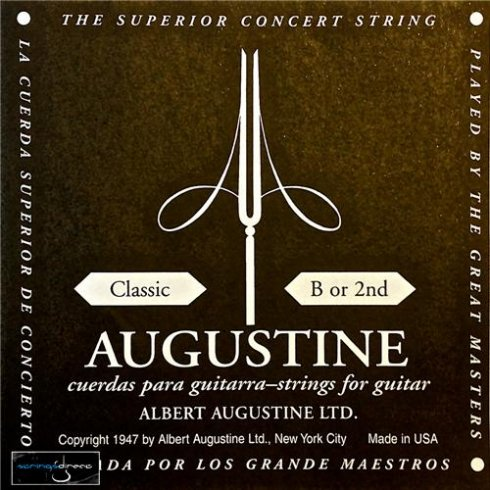 Augustine Classic Black Label Series Clear Nylon Normal Tension Classical Guitar Single String .032 B-2