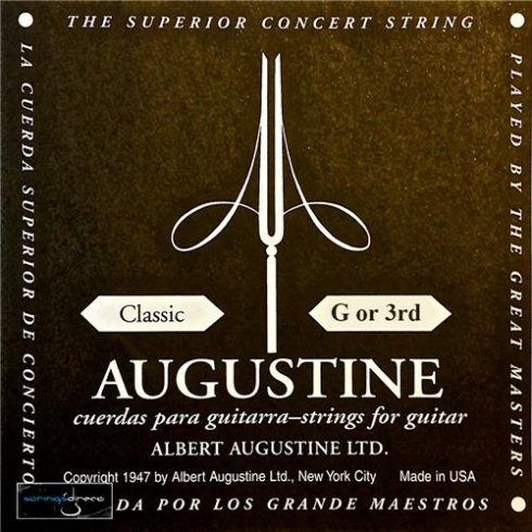 Augustine Classic Black Label Series Clear Nylon Normal Tension Classical Guitar Single String .040 G-3