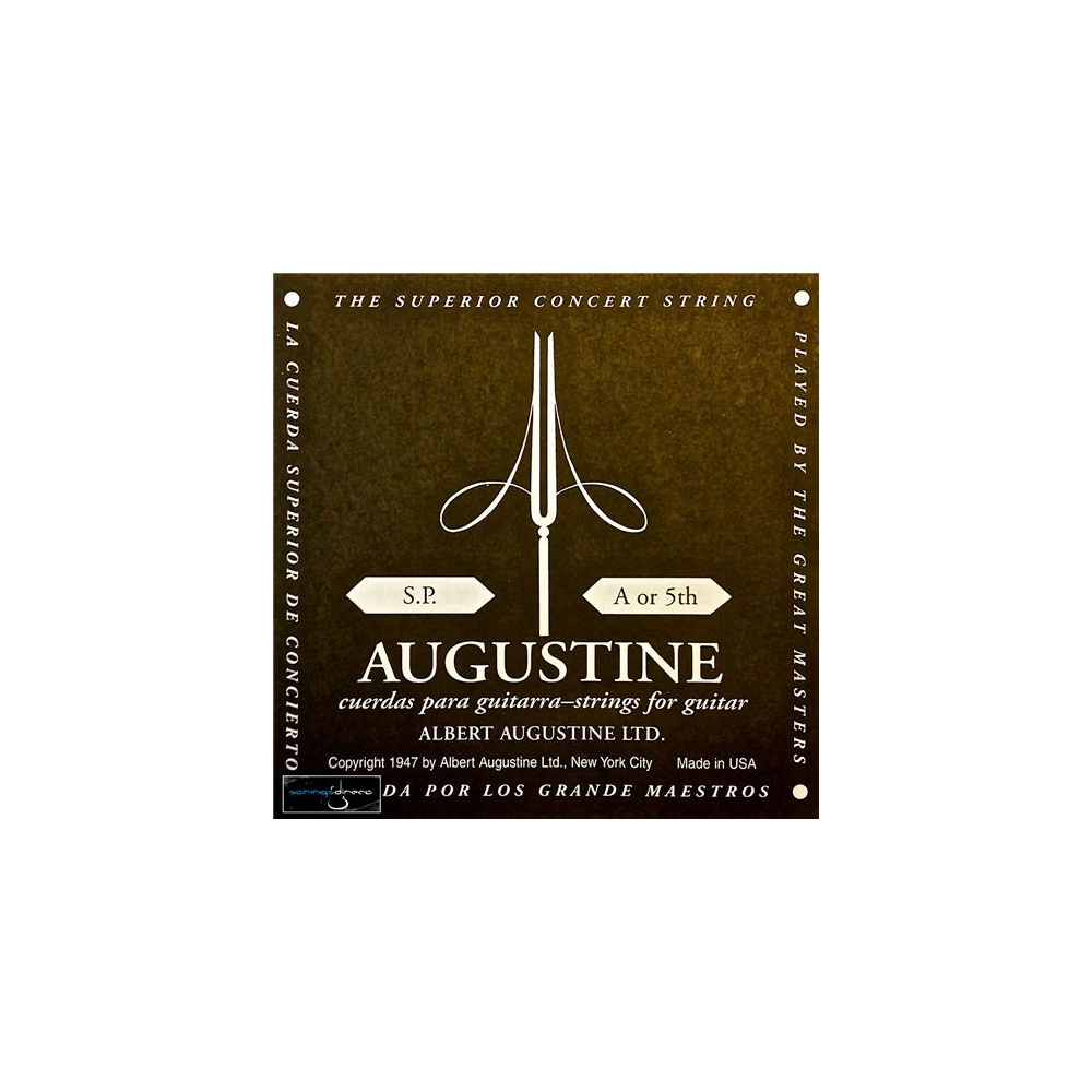 augustine classic black wound nylon low tension classical guitar single string 0325 a 5. Black Bedroom Furniture Sets. Home Design Ideas