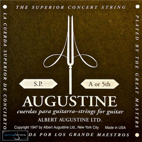 Augustine Classic Black Wound Nylon Low Tension Classical Guitar Single String .0325 A-5