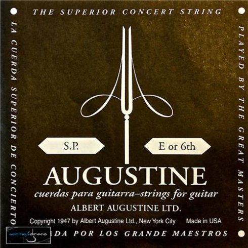 Augustine Classic Black Wound Nylon Low Tension Classical Guitar Single String .0435 E-6