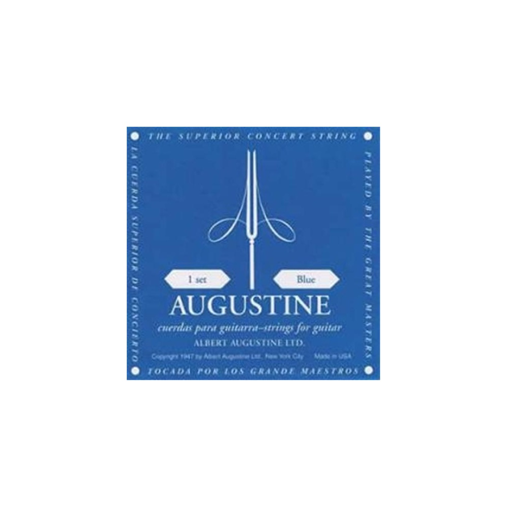 augustine classic blue classical guitar strings regular trebles high tension basses. Black Bedroom Furniture Sets. Home Design Ideas