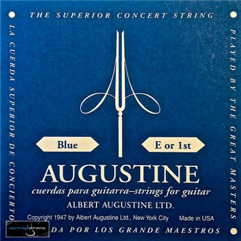 Augustine Classic Blue Clear Nylon Normal Tension Classical Guitar Single String .028 E-1