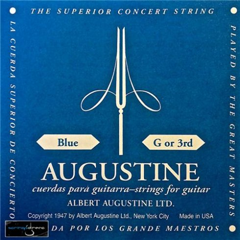 Augustine Classic Blue Clear Nylon Normal Tension Classical Guitar Single String .040 G-3