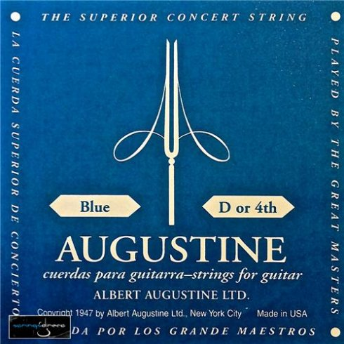 Augustine Classic Blue Wound Nylon High Tension Classical Guitar Single String .029 D-4
