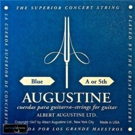 Augustine Classic Blue Wound Nylon High Tension Classical Guitar Single String .036 A-5
