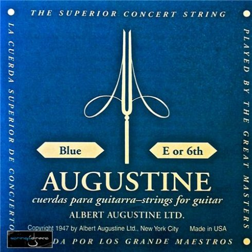 Augustine Classic Blue Wound Nylon High Tension Classical Guitar Single String .045 E-6
