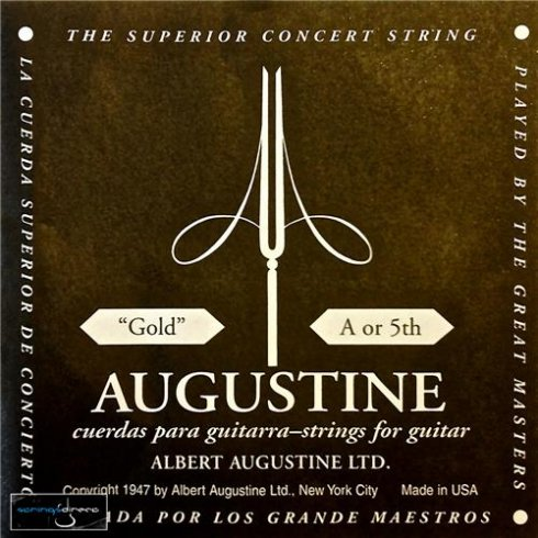 Augustine Classic Gold Wound Nylon Low Tension Classical Guitar Single String .035 A-5