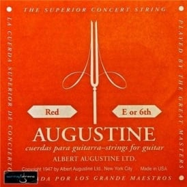 Augustine Classic Red Wound Nylon High Tension Classical Guitar Single String .0425 E-6