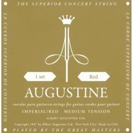 Augustine Imperial Red Copper Wound Classic Guitar Strings, Medium-High Tension