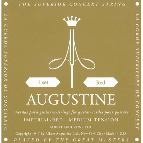 Augustine Imperial Red - Copper Wound Medium Tension Classical Guitar Strings