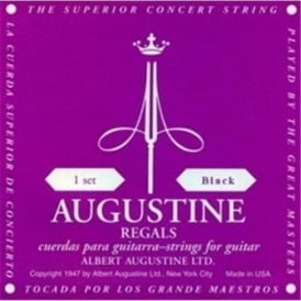 Augustine Regal Black Classical Guitar Strings - Extra High Tension Trebles / Low Tension Basses