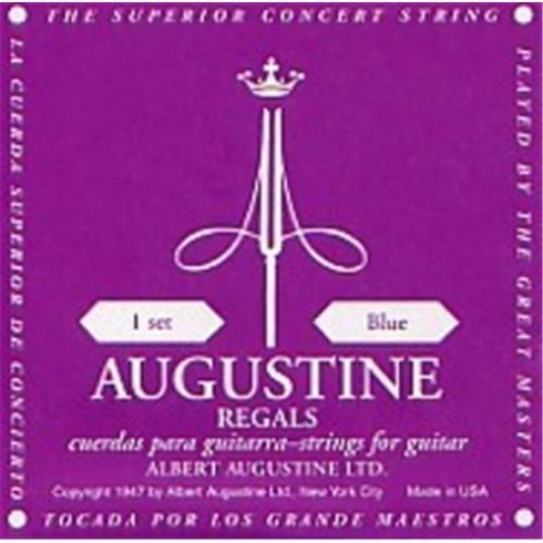 Augustine Regal Blue Classical Guitar Strings - High Tension Trebles / High Tension Basses