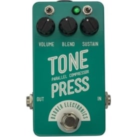 Barber Electronics Tone Press Compressor Guitar Effects Pedal, Mint Turquoise