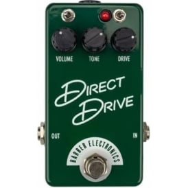 Barber Electronics Direct Drive Compact Overdrive Guitar Effects Pedal, Racing Green
