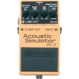 BOSS AC-3 Acoustic Simulator Guitar Effects Pedal - 5-Year Warranty