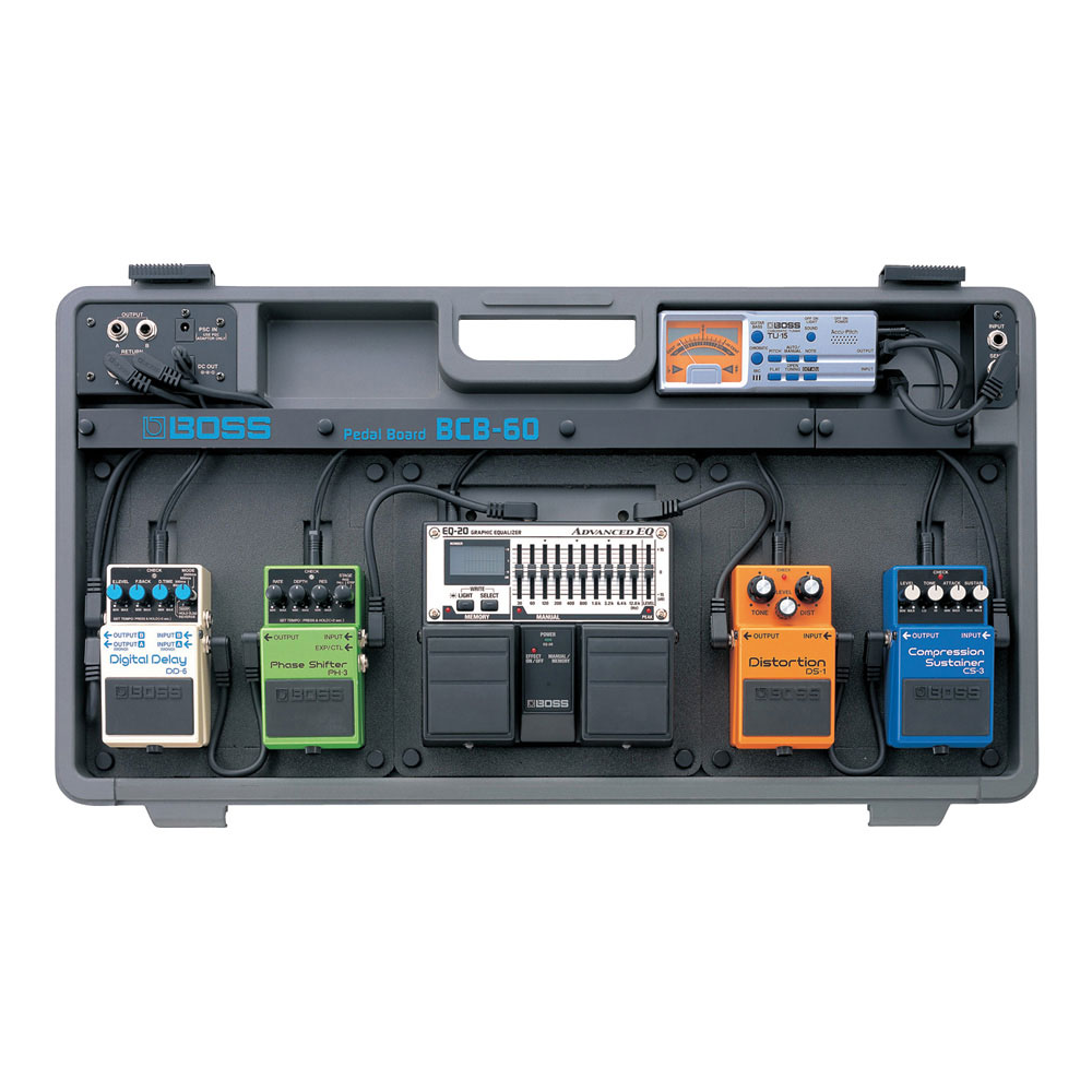 boss bcb 60 pedal board with patch cables power supply. Black Bedroom Furniture Sets. Home Design Ideas