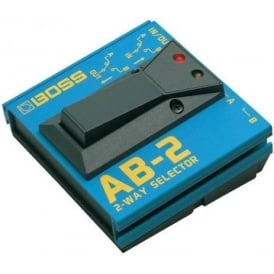 Boss AB2 2-Way A/B Input/Output Selector Footswitch for guitar effects or amplifiers