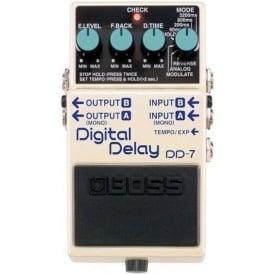 BOSS DD-7 Digital Delay Compact Guitar Effects Pedal 5-Year Warranty
