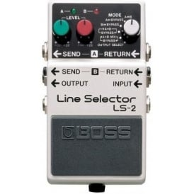 Boss LS-2 Line Selector Pedal LS2 - Two Line Loops and Six Looping Modes