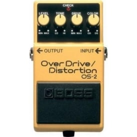 BOSS OS-2 OverDrive/Distortion Compact Guitar Effects Pedal 5-Year Warranty