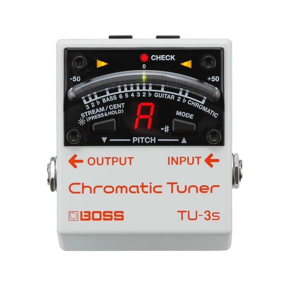 boss chromatic pedal board guitar tuner tu 3s. Black Bedroom Furniture Sets. Home Design Ideas