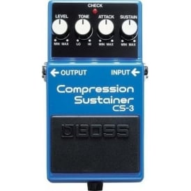 BOSS CS-3 Compression Sustainer Compact Guitar Effects Pedal 5-Year Warranty