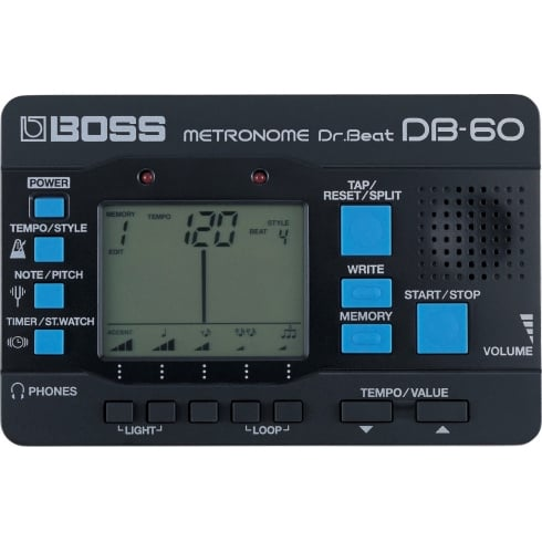 BOSS DB-60 Dr. Beat Metronome with Programmable Memory Function