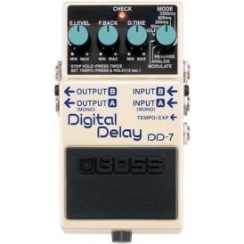 BOSS DD-7 Digital Delay Compact Guitar Effects Pedal 5-Year Warranty