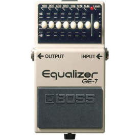BOSS GE-7 Graphic Equalizer Compact Guitar Effects Pedal - 5 Year Warranty