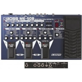 Boss ME50 Bass Guitar Multi Effects Floor Processor with Expression Pedal