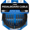 BOSS Pedalboard Patch Cable Kit, 24 connectors, 24ft / 7.3m