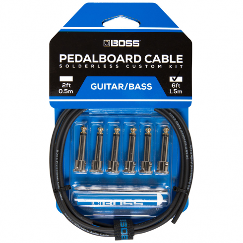 BOSS Pedalboard Patch Cable Kit, 6 connectors, 6ft / 1.8m