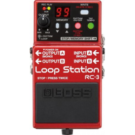 BOSS RC-3 Loop Station Compact Guitar Effects Pedal  - 5-Year Warranty