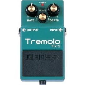 BOSS TR-2 Tremolo Compact Electric Guitar Effects Pedal 5-Year Warranty