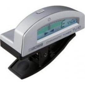 Boss TU10 Clip-On Chromatic Tuner in Silver