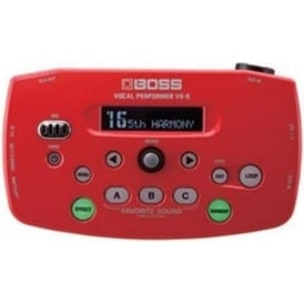 Boss VE5 Vocal Performer Red Vocal Processor 3-Year Warranty