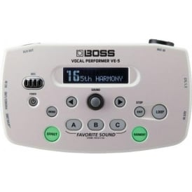 Boss VE5 Vocal Performer White Vocal Processor 3-Year Warranty