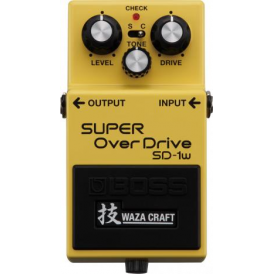 BOSS Waza Craft SD-1W Super Overdrive Compact Guitar Effects Pedal - 5-Year Warranty