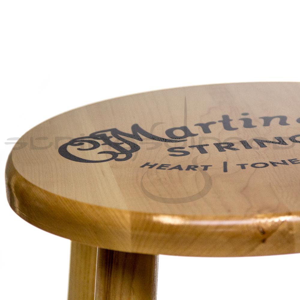 C F Martin Guitar Solid Wooden Logo Bar Stool