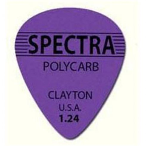 Clayton 1.24mm Spectra Polycarb Guitar Picks Standard Shape (12-Pack)