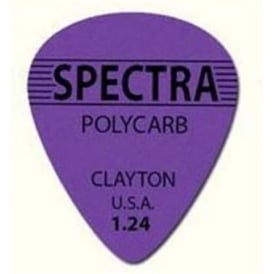 Clayton 1.24mm Spectra Polycarb Guitar Picks Standard Shape (12-Pack)