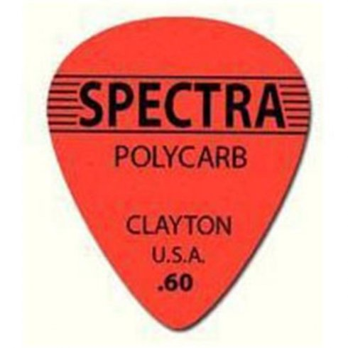 Clayton .60mm Spectra Polycarb Guitar Picks Standard Shape (12-Pack)