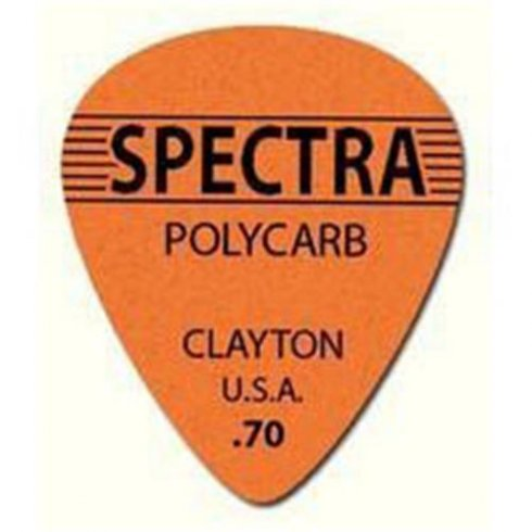 Clayton .70mm Spectra Polycarb Guitar Picks Standard Shape (12-Pack)