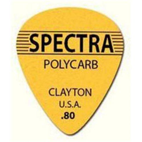 Clayton .80mm Spectra Polycarb Guitar Picks Standard Shape (12-Pack)