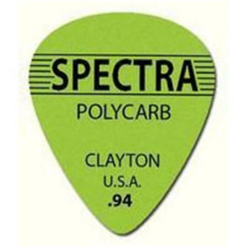 Clayton .94mm Spectra Polycarb Guitar Picks Standard Shape (12-Pack)