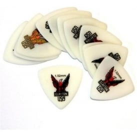 Clayton Acetal Rounded Tri 1.52mm Pack of 12 Picks