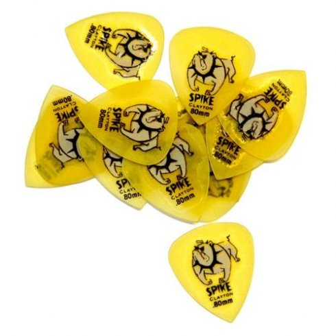 Clayton Spike Sharp Standard Plectrum Pack .80mm 12-Pack